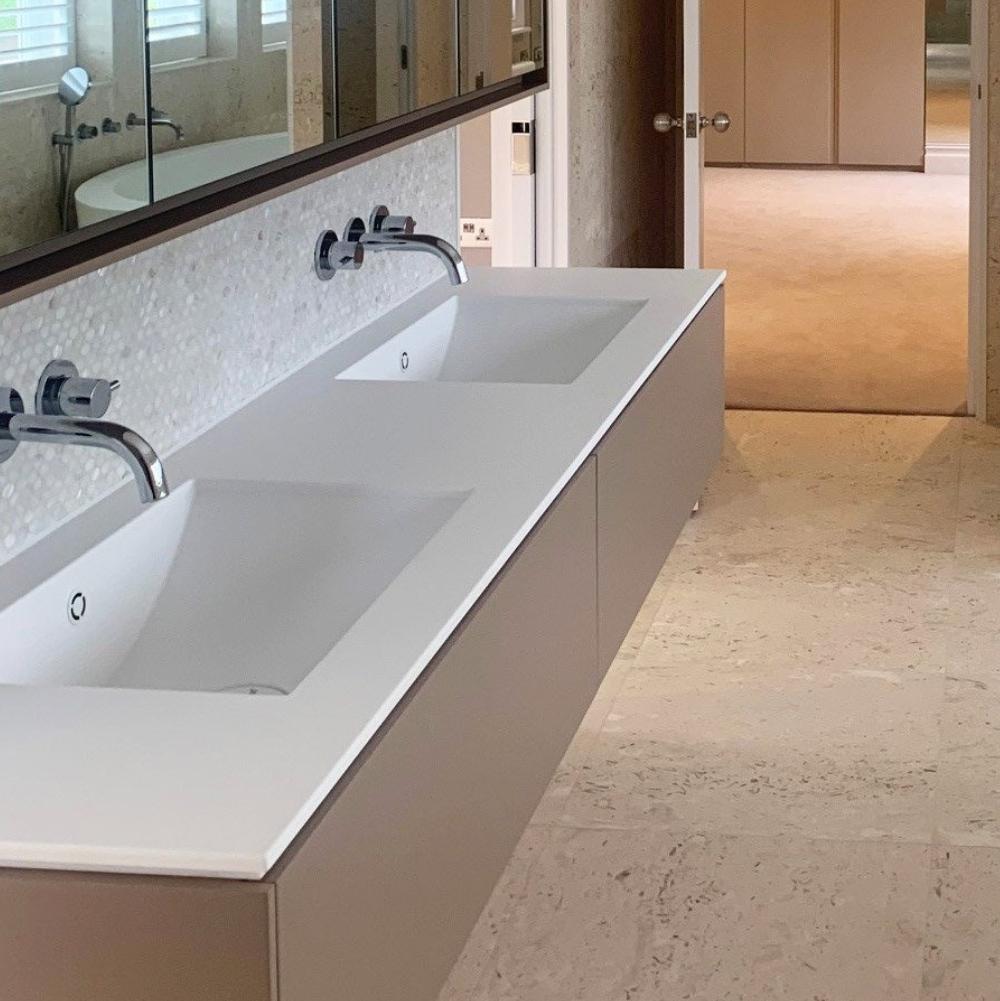 Corian bathroom worktops